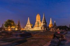 Old Temple wat Chaiwatthanaram of Ayutthaya Province,thailand Stock Photo