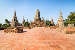 Old Temple, Wat Chaiwatthanaram Temple of Ayuthaya Province . Stock Image
