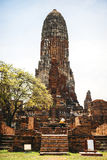 Old Temple Wat Mahathat of Ayutthaya Historical Park, Thailand Stock Photography