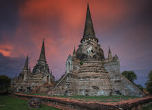 Old Temple wat Monkonbapit of Ayuthaya Royalty Free Stock Photos
