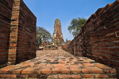 Old Temple wat Praram of Ayuthaya Province( Ayutthaya Historical Royalty Free Stock Images