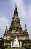 Old Temple Wat Yai Chai Mongkhon, Ayuthaya Province, Thailand Royalty Free Stock Image