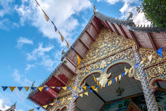 Old temple. With white cloud and blue sky Stock Image