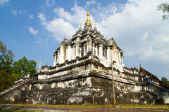 Old temple. White old Temple in Lamphun Thailand Royalty Free Stock Photography