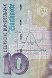 Old Ten Deutschmark Banknote, Bill Royalty Free Stock Images