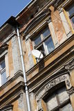Old tenement and antenna Stock Photography