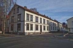 Old tenement house in Halden. Stock Images