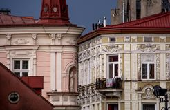 Old tenement house. Old 19th Century tenement houses in the city of Przemysl, Poland stock photos