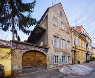 An old tenement house in Zagreb. Croatia. Stock Photography