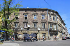 Old tenements in Kazimierz quarter, Krakow, Poland Stock Images