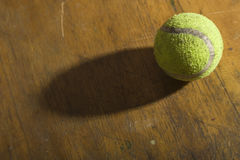 Old tennis ball Royalty Free Stock Images