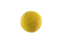Old tennis ball isolated on white Royalty Free Stock Photo