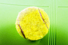 Old tennis ball Royalty Free Stock Photos