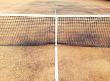 Old tennis clay court Royalty Free Stock Photography