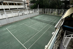 Old tennis court Royalty Free Stock Image