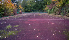 Old tennis court with net Royalty Free Stock Photo