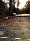 Old tennis court Royalty Free Stock Images