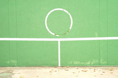 Old tennis practice wall. Background Royalty Free Stock Photo