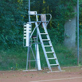 Old tennis umpire chair Stock Image
