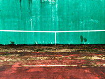 Old Tennis wall Royalty Free Stock Images