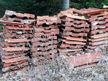 Old Terracotta Roof Tiles Royalty Free Stock Images