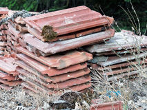 Old Terracotta Roof Tiles Royalty Free Stock Photos