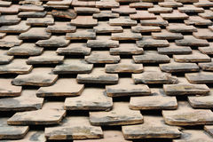 Old terracotta tile roof Royalty Free Stock Image