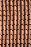 Old terracotta tile roof close up. background vertical Royalty Free Stock Photos