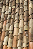 Old terracotta tiles Stock Photos