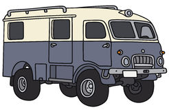 Old terrain wagon. Hand drawing of an old  terrain adventure wagon - not a real model Stock Photography
