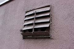 Old terrible ventilation grille. Royalty Free Stock Photos