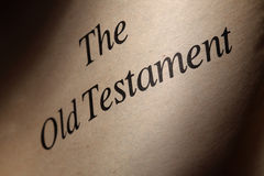 The Old Testament. The title page of an old English Bible's Old Testament part under dramatic lighting Royalty Free Stock Photos