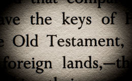 Old Testament. Quote in book Royalty Free Stock Photos
