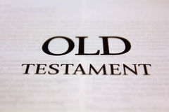 Old Testament Stock Image
