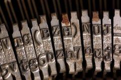 Old text typing typewriter letter typebar Stock Image