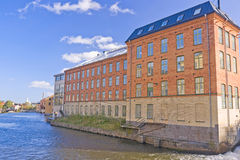 Old textile factory, Norrkoping Royalty Free Stock Photos