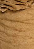 Old textile sack background Stock Images