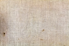 Old textile texture closeup with dirty spots. Abstract background Stock Images