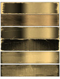 Old texture banners set Stock Image