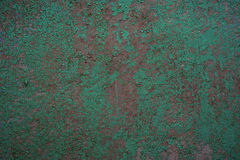 Old texture of green cracked wal Royalty Free Stock Image