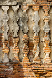 Old texture pattern on pagoda wall. Background in temple, Thailand Royalty Free Stock Photo