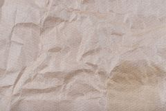 Old Texture of rough crumpled craft brown recycled Stock Image