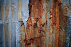 Old Texture and rusty zinc Royalty Free Stock Images