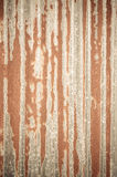 Old Texture and rusty zinc fence Royalty Free Stock Photos