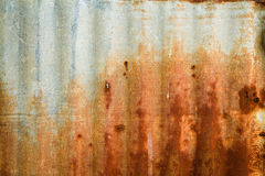 Old Texture and rusty zinc fence background Royalty Free Stock Photo