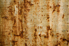 Old Texture and rusty zinc fence background Royalty Free Stock Photos