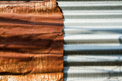 Old Texture and rusty zinc fence background Royalty Free Stock Photography