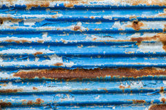 Old Texture and rusty zinc fence background Stock Image