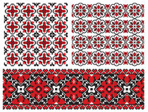 Old texture ukrainian embrodery Royalty Free Stock Photography