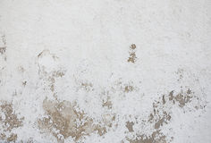 Old Texture whitewashed wall was destroyed Stock Images